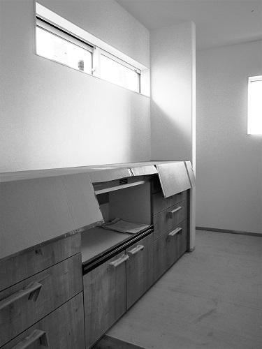 ライフタイムデザイン社次回見学会予定平屋の家内装工事