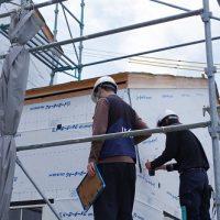 田舎風の住宅JIO外装下地検査