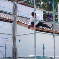 家ができるまで。屋根・外壁工事
