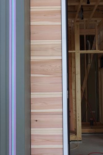 ライフタイムデザイン社外壁天然木