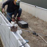 給排水設備工事。外部配管工事