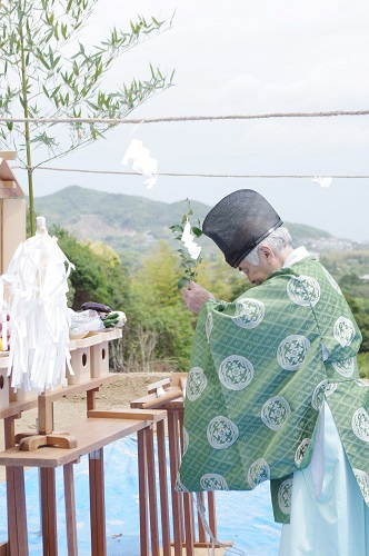 地鎮祭玉串