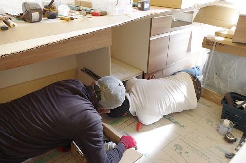 キッチン設備工事食洗器