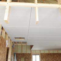 趣味室天井ボード。家ができるまで。