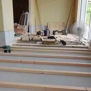 趣味室の進捗。大工工事