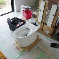 電気設備工事「トイレの神様」@夕方