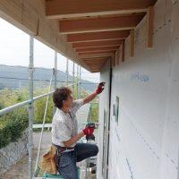 外壁工事・屋根と大工工事本日は終了